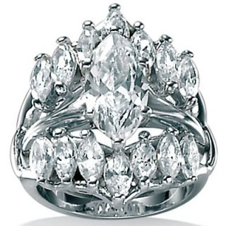 Palm Beach Jewelry Cubic Zirconia Silver Marquise Ring
