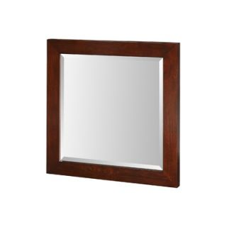 Xylem Essence 24 x 24 Mirror in Dark Walnut   M ESSENCE 24DW