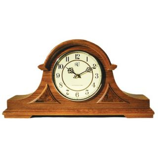 River City Clocks Traditional Chiming Mantel Clock in Medium Oak