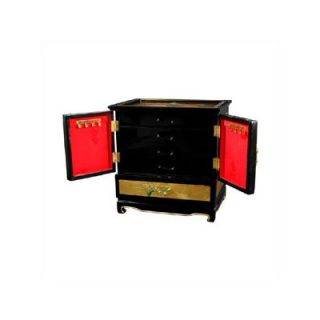 Oriental Furniture Gold Leaf Empress lacquer Jewelry Box   LCQ 299