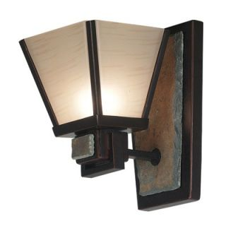 Kenroy Home Clean Slate Wall Sconce in Oil Rubbed Bronze   91601ORB
