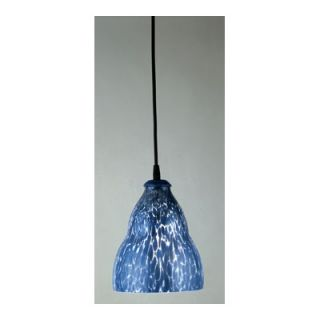 PLC Lighting Vega I 1 Light Mini Pendant   4000 COBALT BLUE BK
