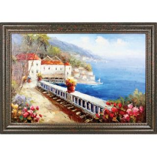 Hokku Designs View from the Terrace Hand Painted Oil Canvas Art with