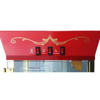 Great Northern Popcorn Matinee Movie Antique Popcorn Machine in Red