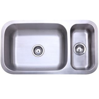 Elements of Design Stainless Steel Double Bowl Undermount Kitchen Sink