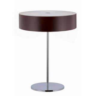 Lite Source Table Lamp in Chrome/Dark Walnut   LS 21188