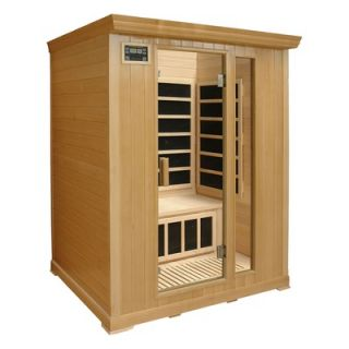 Crystal Sauna 3 Person Infrared Sauna with Eight Carbon Heaters and