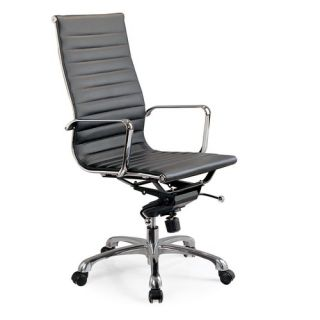 High Back Leatherette Office Chair with Chrome Base