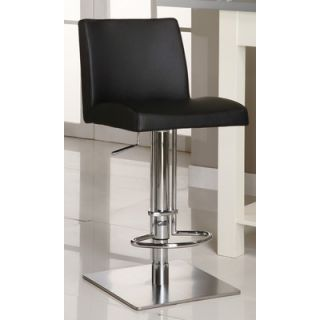 Chintaly Adjustable Causal Swivel Stool in Black   0814 AS BLK