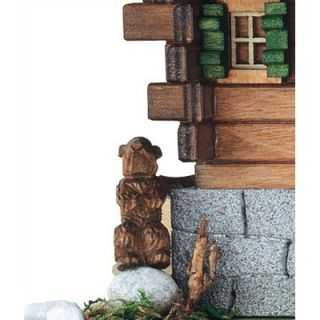 Schneider 8 Chalet Cuckoo Clock with St. Bernard and Woodchuck