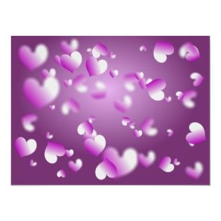 Pretty heart shaped abstract background design in shades of purple