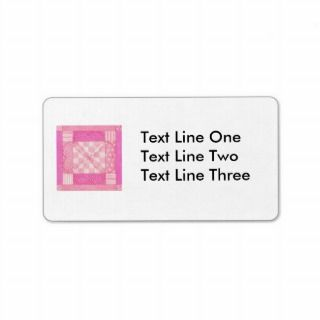 Heart Quilt Block Address Labels