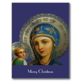 Virgin Mary and Child Jesus Postcards