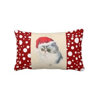 Cat Christmas Pillow