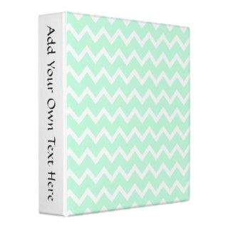 Zig zag pattern in light mint green and white. A stylish pastel