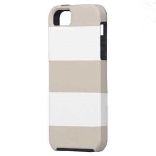 Cool Light Khaki & White Stripe iPhone 5 Case Gift iPhone 5 Covers