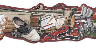 Die Cut Golf Equipment Wallpaper Border TA39028DB