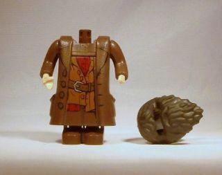 Lego Harry Potter Minifig Hagrid Minifigure Dark Brown Damaged 4865