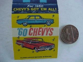 1960 Hartford City, Indiana Chevrolet Chevy Crankshaw Motor Car dealer