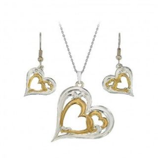 Montana Silversmith Full of Love Jewelry Set Hearts Silver Gold