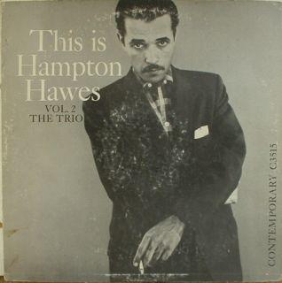 Hampton Hawes This Is Vol 2 The Trio Contemporary 3515