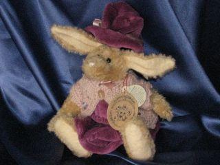 Boyds Bears Retired Hare Emily Babbit 10 5 Plush Hare