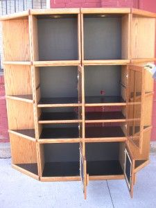 Orman Grubb Oak Entert CTR Solid Bridge 2 Bookcase