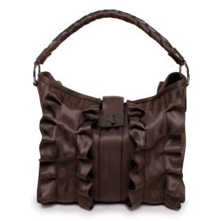 Harveys Seatbelt Bags ESPRESSO BROWN LOLA RUFFLE TOTE, FACTORY FIND