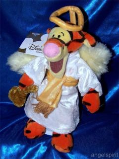 Tigger Choir Angel Stuffed Plush Beanie Disney Winnie The Pooh 8 Xmas