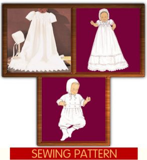 Baby Baptism Christening Gown Romper Pattern Boy Girl