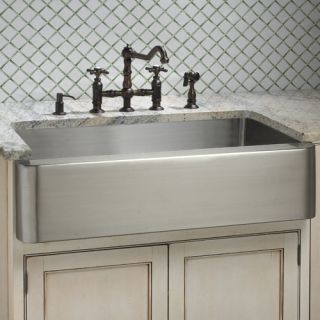 36 Hazelton Stainless Steel Apron Front Single Bowl Sink Rear Drain