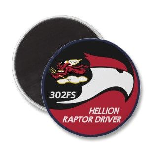 302nd Fighter Squadron F 22 Raptor Magnets