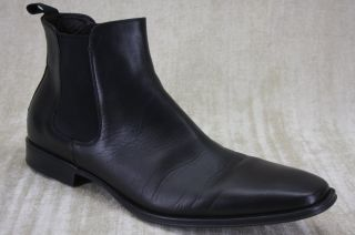 Biltmore Black Leather Chelsea Ankle Boots Size 13 Goring $398