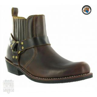 Grinders Boots Biker Rocker Black Size 4 12