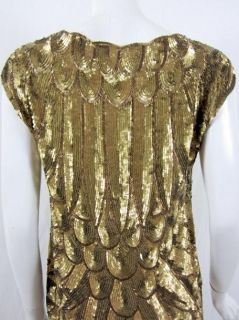 Haute Hippie Womens Allover Gold Dress s $950 New