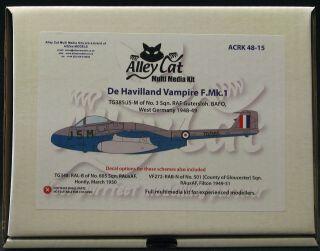 Alley Cat 1 48 de Havilland Vampire F MK 1 British Fighter