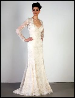 Wedding Evening Party Dress Gown with Lace Jacket Custom Made