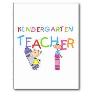 Crayon Kindergarten Teacher Tshirts and Gifts Postcards