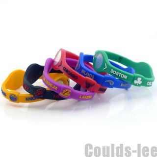 New NBA Basketball Wristband Sports Balance Rubber Bracelet Hand 7 4