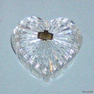 Zajecar 24 Lead Crystal Heart Shaped Trinket Box Yug
