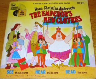 Hans Christian AdersenT The Emperors New Clothes Book and 33 RPM