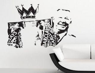 MUFC Manchester United Wall Art Sticker Decal Mural Silhouette