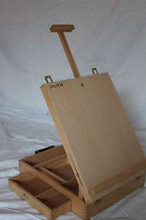 NEW HARDWOOD ARTIST TABLE TOP EASEL SKETCH BOX HIGH QUALITY