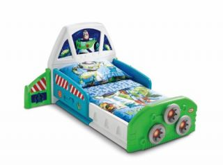 Toy Story Buzz Lightyear Spaceship Toddler Bed Headboard Footboard