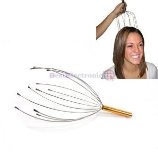 50 Gold Head Neck Scalp Massage Stress Relax Massager