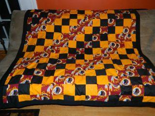 Redskins Handmade Lap Quilt