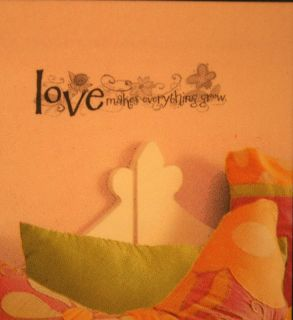 Love Makes Grow Decal Wall Sticker Saying Word Fresh