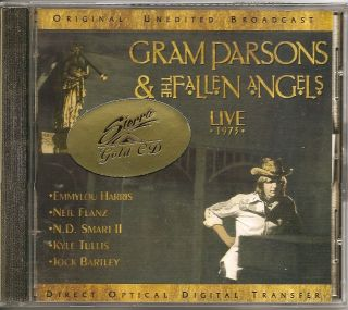 GRAM PARSONS & FALLEN ANGELS Live 1973 OOP GOLD DISC CD Emmylou Harris