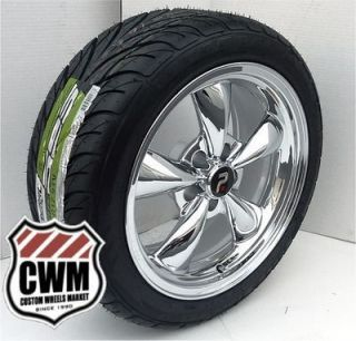 Spoke Chrome Wheels Federal Tires for Pontiac Grand Prix 1969
