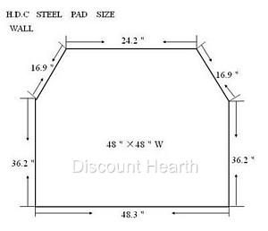 Wood Pellet Stove Board Hearth 2 4 R Value Stardust Floor Pad